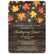 thanksgiving invitations ideas invitations falling leaves with gold autumn