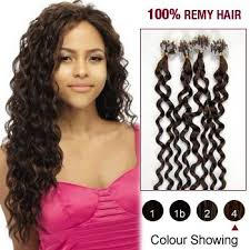 100s micro rings loop hair 20inches human hair extensions curly 04