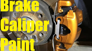 painting brake calipers bmw w copper engine paint and vht clear