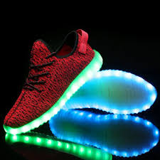light up sneakers light up trainers kids red remote