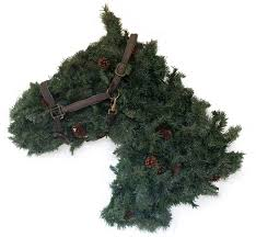 shaped greenery wreath large