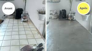plan de travail cuisine beton cire sur carrelage beton cire sur carrelage plan de travail cuisine