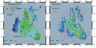 Ithaca Greece Map by Ps Insar Cephallinia Island