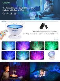 amazon com light projector ohuhu remote control night light