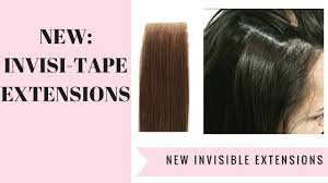 Red Tape Hair Extensions by Brand New Invisi Tape Hair Extensions Youtube