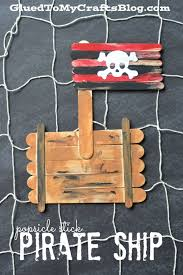 popsicle stick pirate ship kid craft pirate ships ships and