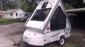 Aliner Floor Plans by 2008 Aliner Alite 400 Folding Motorcycle Camper Youtube