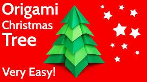 make a very easy origami christmas tree diy tutorial youtube