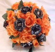 camo flowers camo wedding bouquet bridal bouquet mossy oak camo orange silk