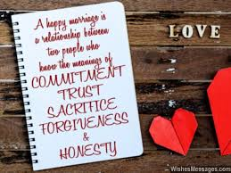 1st Anniversary Wishes Messages For Wife A Happy Marriage Is A Relationship Between Two People Who Know The