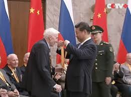 China Flag Ww2 Chinese President Meets Russian Wwii Veterans Youtube