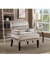Chevron Accent Chair Deal On Lyke Home Panama Grey Fabric Chevron Patterned Accent