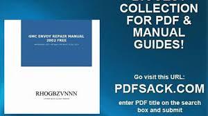 gmc envoy repair manual 2002 free video dailymotion