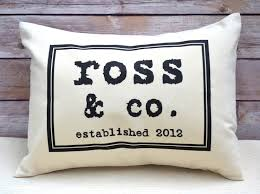 personalized pillow vintage style text personalized pillow cotton anniversary gift