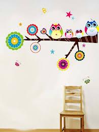 brand design cute owl wall sticker high quality home decor kid u0027s