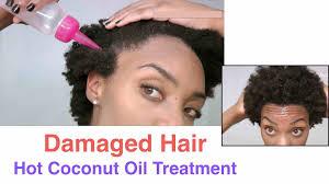 diy damaged hair coconut oil treatment hair regrowth