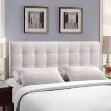 Headboard Wall Decor by Modway Lily Full Leatherette Headboard Multiple Colors Walmart Com