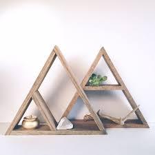 hand stained triangle wood shelf wood shelf triangles and shelves
