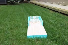 diy bowling lane tutorial handmade with ashley