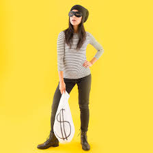 halloween costume robber all you need is this 1 wardrobe staple to make 6 easy halloween