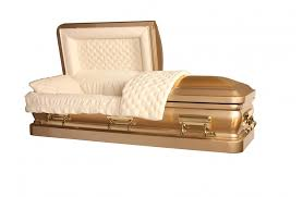 cardboard casket bronze casket brush gold with light gold finish almond velvet