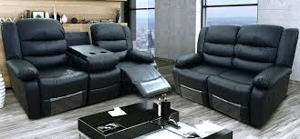 Sofas With Recliners Black Leather With Recliners Black Leather Recliner Sofa