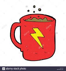 retro comic book style cartoon coffee mug stock vector art
