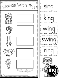 word family ing phonics practice printables word work phonics