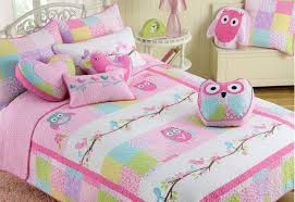 girls cotton bedding owl bedding set twin decorative duvet covers and shams bedding