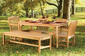 dining room teak dining set by sunbrella outdoor furniture for