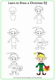 learn to draw a christmas elf christmas pinterest elves