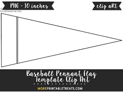 free baseball pennant flag template clipart free clipart files