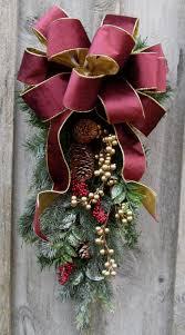 swag wreaths designer door