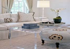 lucite waterfall coffee table get some clarity in your living room with lucite coffee table all