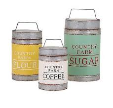 Kitchen Decorative Canisters by This Rustic Set Of Galvanized Metal Canisters With Lids Sport