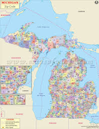 Map Of Wisconsin Cities Michigan Zip Code Map Michigan Postal Code