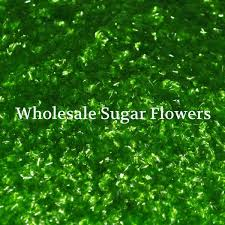 edible gliter edible green glitter flakes wholesale sugar flowers