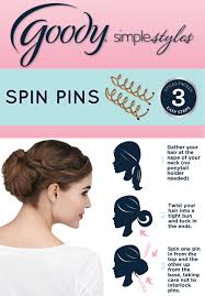 goody s hair using goody spin pins is as easy as 123 simple styles