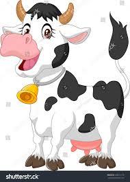 happy cartoon cow stock vector 228231172 shutterstock