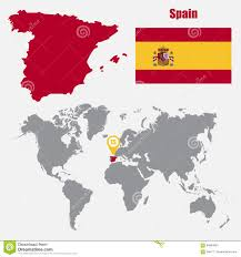 Spain On World Map by Vector Map Of Spain Stock Image Image 11400721