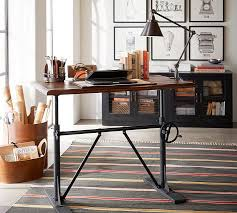 Sit Stand Office Desk Pittsburgh Crank Standing Desk Pottery Barn