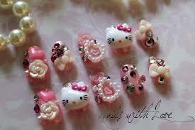 hello kitty acrylic nail designs gallery nail art designs
