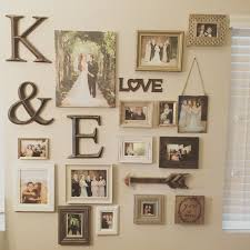 Picture Frame Wall by My Gallery Wall Of Wedding Photos Photo Collage Ideas