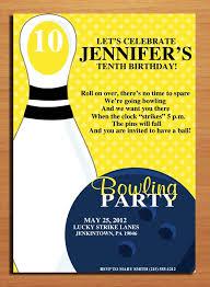 3 fantastic free bowling birthday party invitations