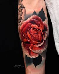 magnificent red rose tattoos