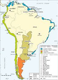 map of south america with the different countries and its capital
