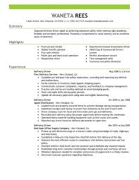 exle of a warehouse resume delivery driver resume sle resumes livecareer transit