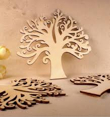 10pcs diy wooden tree household wall decorations crafts figurines