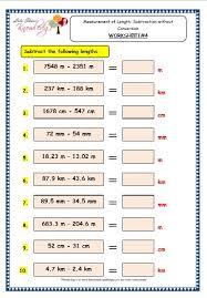 grade 3 maths worksheets 11 6 measurement of length