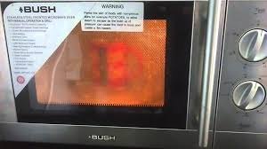 bush stainless steel fronted microwave oven with manual operation